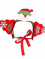 cheap -holiday dog headband for christmas- adorable pet hair bands accessories for dog and cat (m, santa claus)