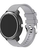 cheap -bigtang vivoactive 3 watch band, 20mm soft silicone replacementbands for garmin vivoactive 3/ garmin forerunner 645 music/samsung galaxy 42mm/galaxy watch 3 41mm smart watch - grey