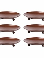 cheap -rustic iron plate candle holder,decorative iron pillar candle holder,pedestal candle stand for led & wax candles,spa,aromatherapy,incense cones,weddings party (brown, 6)