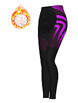 cheap -21Grams Women's Cycling Tights Cycling Pants Winter Fleece Polyester Bike Tights Padded Shorts / Chamois Pants Thermal Warm Fleece Lining Breathable Sports Purple Mountain Bike MTB Road Bike Cycling