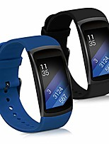 cheap -silicone watch strap compatible with samsung gear fit2 / gear fit 2 pro - 2x fitness tracker replacement band wristband set with clasp