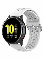 cheap -replacement band for samsung galaxy watch active 2 40mm/ 44mm,20mm silicone quick release sport strap breathable wristband for galaxy watch 42mm/gear s2/gear sport (white, 20mm)