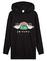 cheap -hoodie dress, central perk long tops for women and teens, sweatshirt dresses, black oversized jumper tv show official merchandise, gift for her (l)