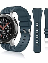 cheap -compatible with samsung galaxy watch 46mm bands/gear s3 frontier, classic watch bands/galaxy watch 3 bands 45mm, 22mm soft silicone bands bracelet sports strap for men & women. (slate)