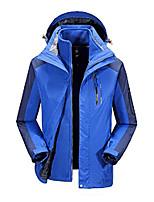 cheap -men's 3 in 1 fleece waterproof taped seams hiking hooded adjustable outdoor jacket 4x-large blue