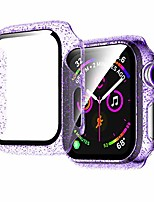 cheap -jelly case compatible for apple watch series 3 2 1 42mm clear hd glass screen protector with glitter pc bling overall protective cover for iwatch 42mm