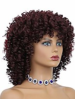 cheap -afro kinky curly wigs for black women short curly afro wigs for cosplay halloween shoulder length full wigs synthetic heat resistant wigs with bangs(99j/850a)