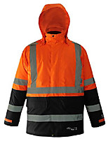 "cheap -viking professional journeyman 300 denier waterproof and windproof hi-vis insulated winter safety jacket with d configuration 2"" vi-brance reflective tape, orange, medium"