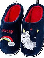 cheap -girl cute unicorn home slippers kid fur lined warm indoor slippers for boys winter house slippers soft cozy memory foam plush fleece (toddler/little kids) (1.5-2 little kid,blue)
