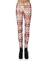 cheap -Women's Sporty Comfort Skinny Gym Yoga Leggings Pants Print Full Length High Waist Blue Purple Brown