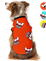 cheap -Dog Shirt / T-Shirt Animal Printed Animals Casual / Daily Dog Clothes Puppy Clothes Dog Outfits Breathable Yellow Red Blue Costume for Girl and Boy Dog Polyster S M L XL