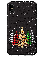 cheap -iphone xs max christmas trees with plaid & leopard print case