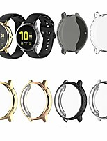 cheap -compatible with samsung galaxy watch active 2 case 44mm tpu screen protector case anti-scratch slim protective case saver cover plated for galaxy active 2 44mm watch (mixing)