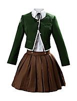 cheap -chihiro fujisaki cosplay outfit danganronpa costume halloween school uniform dress green