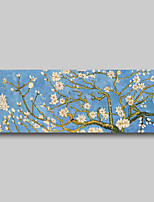 cheap -Hand Painted Van Gogh Museum Quality Oil Painting - Abstract Flowers Almond Blossoms Modern Large Rolled Canvas