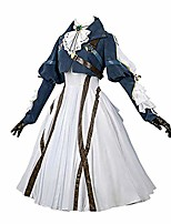 cheap -violet evergarden cosplay costume womens anime uniforms suit,dark blue,small