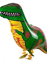 cheap -green tyrannosaurus dinosaur walking animal balloon animal balloon pet air walker helium foil balloon for children kids fun party!