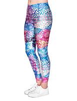 cheap -Women's Sporty Comfort Skinny Gym Yoga Leggings Pants Patterned Ankle-Length High Waist Purple