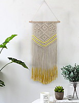 cheap -Hand Woven Macrame Wall Tapestry Bohemian Boho Art Decor Blanket Curtain Hanging Home Bedroom Living Room Decoration Nordic Handmade Tassel Cotton Purple Yellow