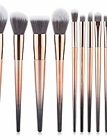 cheap -beauty 10pcs professional fantasy make up brush set foundation blending blush concealer eye shadow face liquid powder cream yyfus (color : gold, size : free)