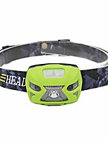 cheap -led headlamp waterproof rechargeable induction led headlamp outdoor fishing flashlight torch perfect for runners, lightweight, waterproof, adjustable headband green