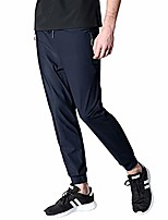 cheap -men's running pants lightweight breathable quick dry hiking jogger sweatpants zipper pockets(as3509blue-xl)
