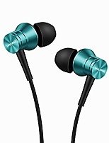 cheap -piston fit in-ear earphones fashion durable headphones with 4 color options, noise isolation, pure sound, phone control with mic for smartphones/pc/tablet - blue (e1009)