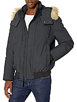 cheap -men's lowell insulated bomber jacket with removable hood, magnet gray, xlarge