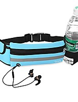 cheap -running belt,  adjustable waist pack with water bottle pouch for running hiking fitness with iphone, samsung galaxy and other phones up to 6.5 inches (blue)