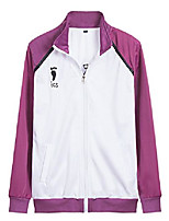 cheap -white purple school sportswear uniform volleyball cosplay costume (medium, jacket)