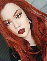 cheap -red long curly hair wig for woman soft charming auburn wig cosplay daily party wig for women natural as real hair with free wig cap