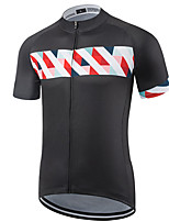 cheap -21Grams Men's Short Sleeve Cycling Jersey Polyester Black Solid Color Bike Jersey Top Mountain Bike MTB Road Bike Cycling UV Resistant Breathable Quick Dry Sports Clothing Apparel / Stretchy