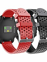 cheap -for garmin vivoactive 3 band/galaxy watch 3 41 mm band/garmin venu band/vivomove hr/ticwatch e/2, 20mm soft silicone replacement sport strap(black,red small)