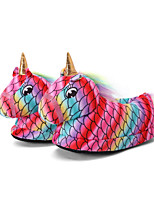 cheap -Adults' Kigurumi Pajamas Slippers Unicorn Flying Horse Onesie Pajamas Cotton Red Cosplay For Men and Women Animal Sleepwear Cartoon Festival / Holiday Costumes / Shoes