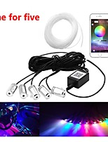 cheap -1 Set Car Atmosphere Lights Neon Wire Strip Light RGB Multiple Modes App Sound Control Auto Interior Decorative Ambient Neon Lamp 1 For 5