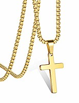 cheap -cross necklace for women, gold plated cross chain stainless steel gold cross pendant for women teenage girls 18 inch