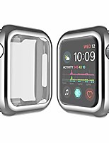 cheap -apple watch case with tpu full-body protection resilient shock absorption for 40mm /44mm apple iwatch series 4 (silver, 40mm)