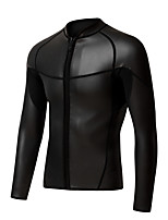 cheap -Men's Wetsuit Top 2mm CR Neoprene Top Windproof Long Sleeve Front Zip - Swimming Diving Surfing Solid Colored Spring / High Elasticity