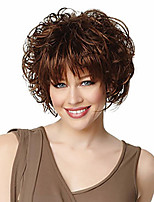 cheap -Synthetic Wig Hathaway Middle Part Wig Brown Curly Short Bob Wig With Bangs Wig Blonde Synthetic Hair 12 inch Women Synthetic Sexy Lady Hairstyle