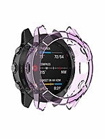 cheap -tpu case suitable for garmin fenix 6s / 6s pro transparent tpu silica gel watch case(transparent white). (color : transparent purple)