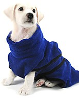 cheap -pet bathrobe, soft microfiber shower blanket bath robe, fast dry pet bath towel for dog and cat,m