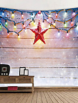 cheap -Christmas Santa Claus Holiday Party Wall Tapestry Art Decor Blanket Curtain Picnic Tablecloth Hanging Home Bedroom Living Room Dorm Decoration Star Light Polyester Views