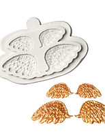 cheap -Feather Wing Pattern Chocolate Mold Fondant Cake Silicone Mold Home Baking Tools