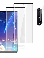 "cheap -[2+2] galaxy note 10 plus screen protector tempered glass, camera lens protector [ultrasonic fingerprint compatible][9h hardness][sensitive touch][full coverage] for samsung galaxy note 10+ (6.8"")"