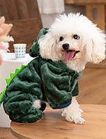 cheap -Dog Coat Hoodie Animal Fashion Cute Casual / Daily Winter Dog Clothes Puppy Clothes Dog Outfits Breathable Red Blue Green Costume for Girl and Boy Dog Cotton XS S M L XL XXL
