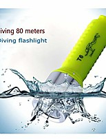 cheap -t6 diving flashlight led 18650 charging diving flashlight with wrist strap camping light (size : 124cm)