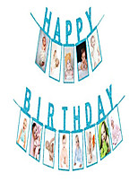cheap -happy birthday photo banner party decoration, men and women birthday backdrop decor,handmade photo props baby girl party decoration supplies
