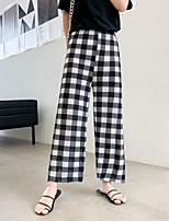 cheap -Women's Basic Streetwear Comfort Daily Going out Pants Pants Polka Dot Striped Ankle-Length Print White Black Khaki Light gray Dark Gray