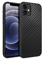 cheap -campatible with iphone 12 case and iphone 12 pro case 6.1 inch (2020),slim thin shockproof protective hybrid hard pc soft tpu bumper drop protection boys men phone covers, black/carbon fiber