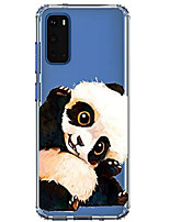"cheap -compatible with galaxy a51 case 6.5"", shockproof anti-slip cute animal print clear design pattern funny slim fit crystal soft bumper girl women cover case for samsung galaxy a51, panda"
